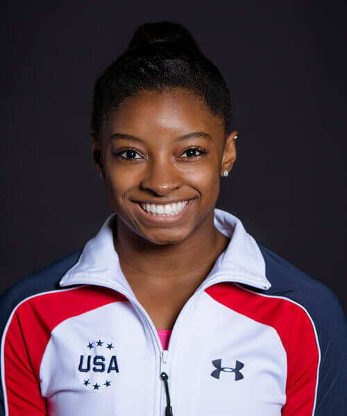 Simone Biles Teeth Smile